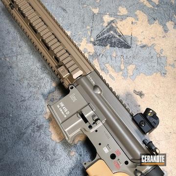Cerakoted Custom Cerakote Mix Of Elite Series Colors To Replicate The Hk 416 Rifles