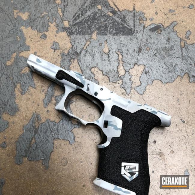 Cerakoted: Stippled,Hand Stippled,Laser Engrave,Snow Camo,Defkon3,Snow,Pistol Frame,Bright White H-140,Alpine MultiCam,SPRINGFIELD® GREY H-304,MultiCam,BATTLESHIP GREY H-213,Gun Coatings