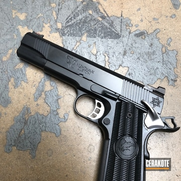 Cerakoted Nighthawk Custom 1911 Cerakoted With E-100 Blackout