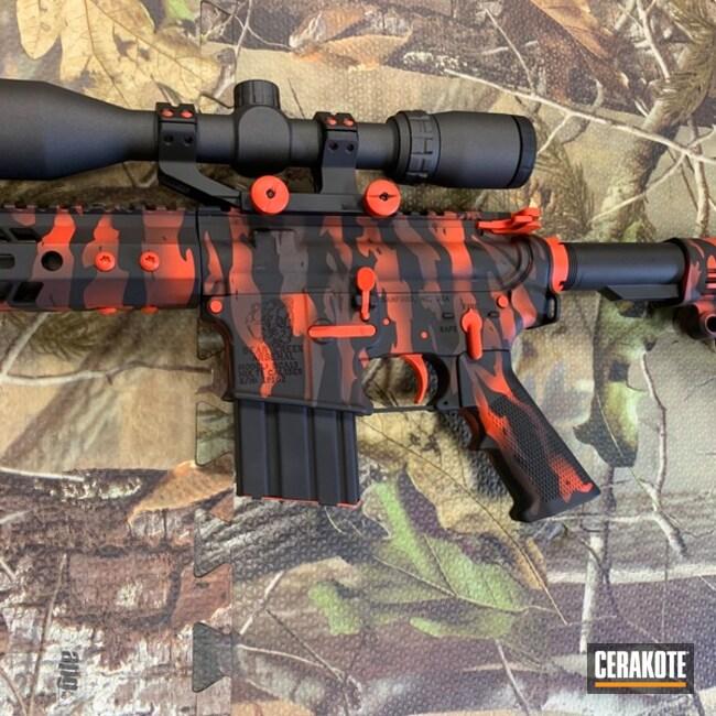 Cerakoted: S.H.O.T,450 Bushmaster,Tiger Stripes,Bear Creek Arsenal,Graphite Black H-146,Tactical Rifle,Gun Coatings,Hunter Orange H-128,Cobalt H-112,AR-15