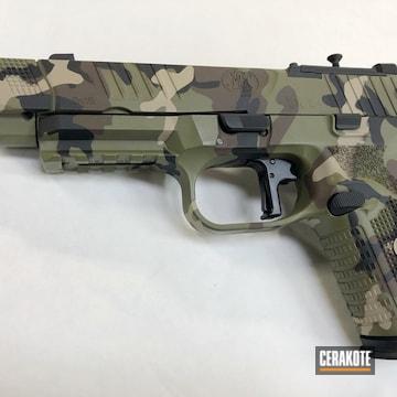 Cerakoted Fn Mfg. Handgun And Cerakote Multicam Finish