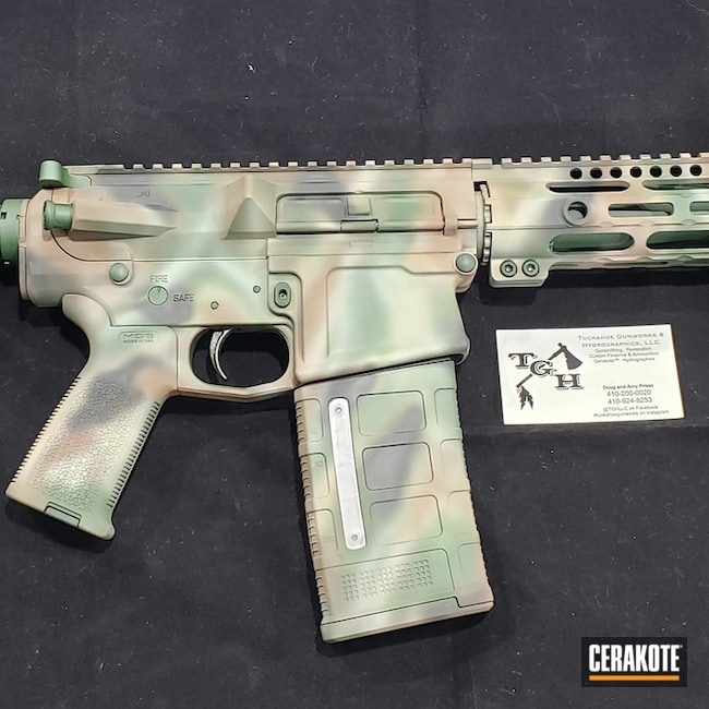 AR-10 Rifle in a Custom Cerakote Camo Finish