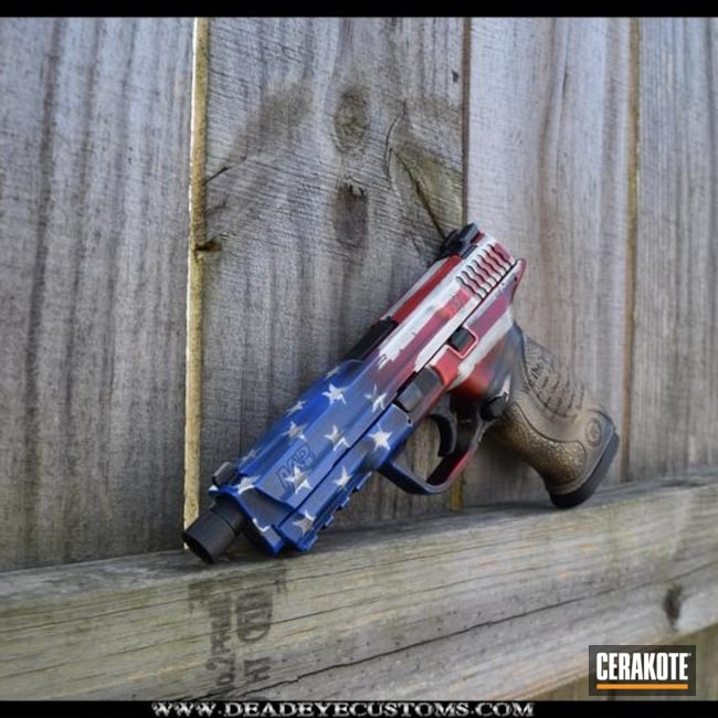 Smith & Wesson Handgun and Cerakote American Flag / Constitution Finish