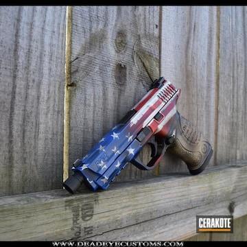 Cerakoted Smith & Wesson Handgun And Cerakote American Flag / Constitution Finish