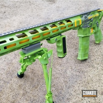Cerakoted Oregon Ducks Themed Rifle
