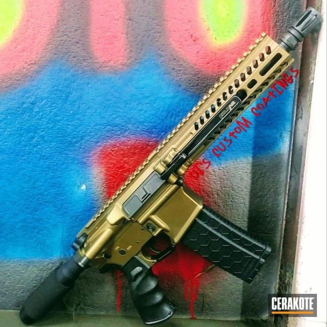 Cerakoted: S.H.O.T,Fold AR,AR Pistol,Folding AR-15,Burnt Bronze H-148,Tactical Rifle,Gun Coatings