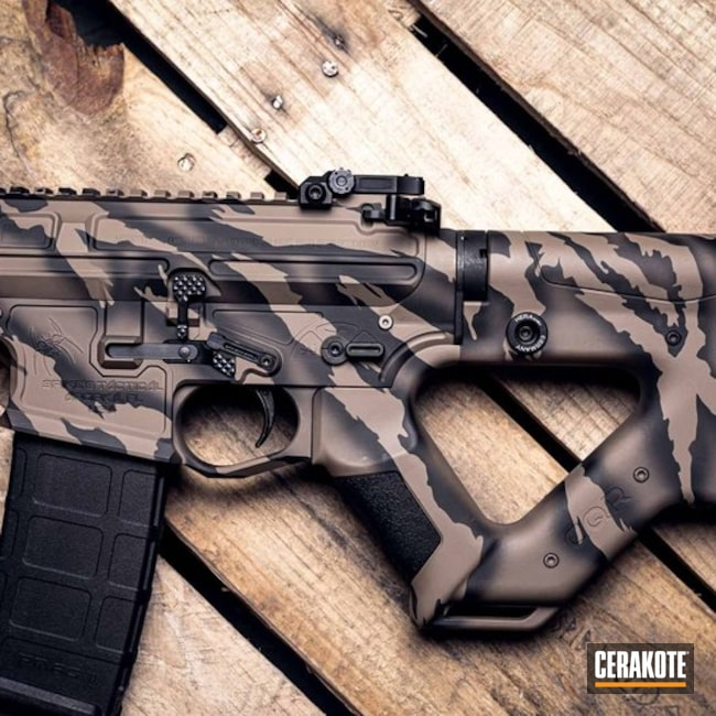 Spike's Tactical Rifle and Cerakote Ghost Tiger Stripe Finish
