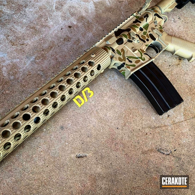"Thumbnail image for project ""AR-15 and a Cerakote Duck Camo Finish"""