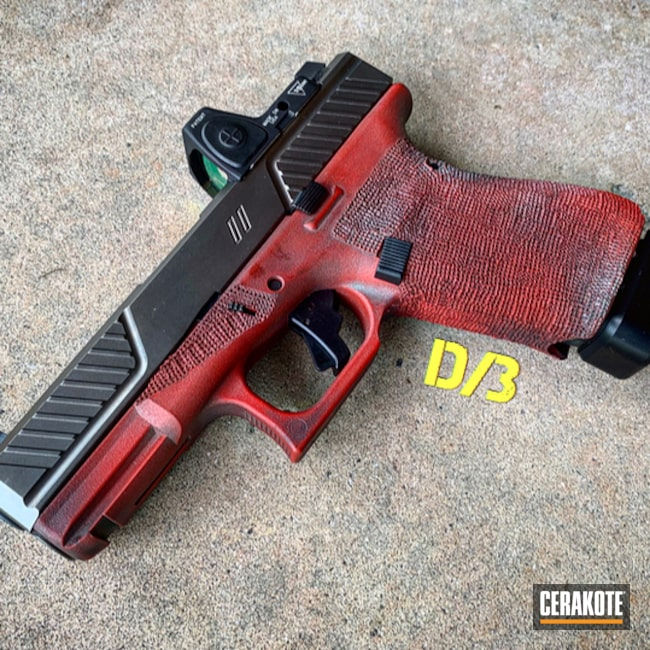 "Thumbnail image for project ""Two Toned Glock 19 Handgun in a Cerakote Battleworn Finish"""