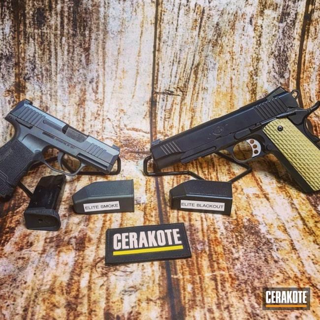 Cerakoted: S.H.O.T,BLACKOUT E-100,Kimber,Sig Sauer,Smoke E-120,Gun Coatings,Pistols
