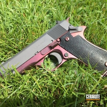Cerakoted Star Model Bm Handgun With A Cerakote And Gun Candy Finish
