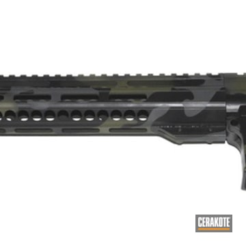 Cerakoted Ar-15 Upper / Lower / Receiver In A Green Multicam Cerakote Finish