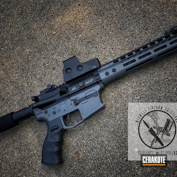 Cerakoted Ar Pistol With A Cerakote Graphite Black And Stainless Cerakote Finish