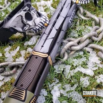 Cerakoted Spartan Themed Rifle And Custom Cerakote Finish