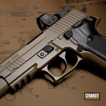 Cerakoted Sig Sauer P226 Finished In Cerakote E-200 And E-100