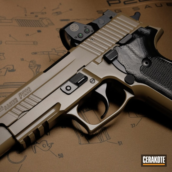 Cerakoted Sig Sauer P226 Finished In Cerakote E-200 And E-100