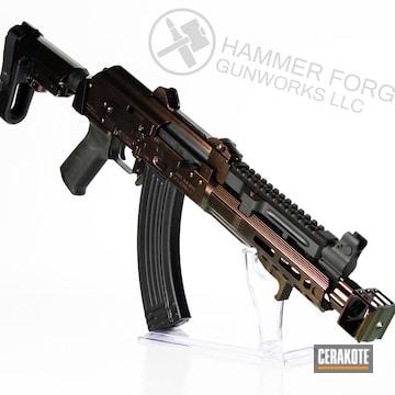 Cerakoted Ak Rifle With A Custom Cerakote And Gun Candy Finish