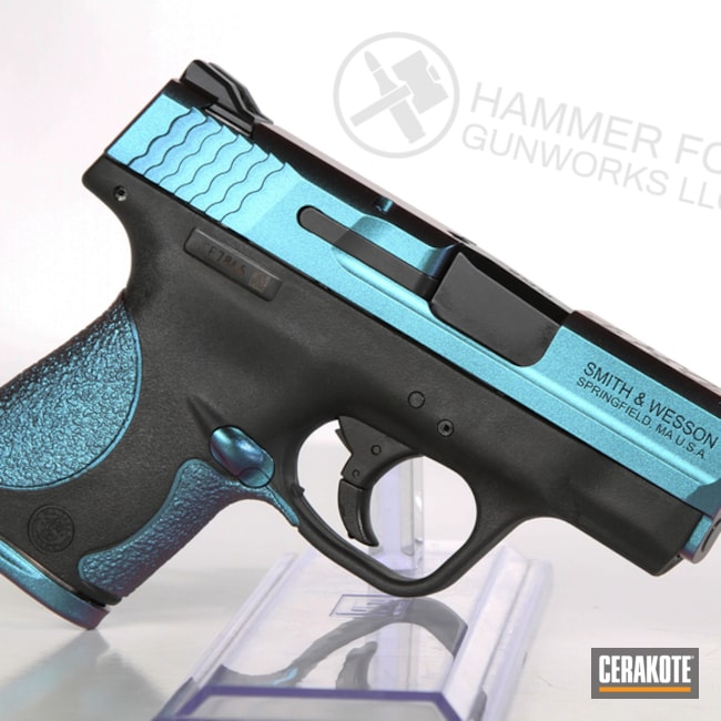 Smith & Wesson Handgun with a Cerakote H-146 and MC-160 Finish