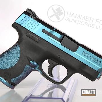 Cerakoted Smith & Wesson Handgun With A Cerakote H-146 And Mc-160 Finish