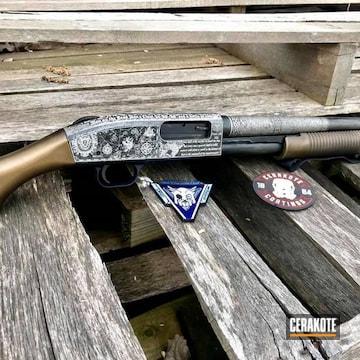 Cerakoted Pirate Themed Mossberg Shockwave Shotgun