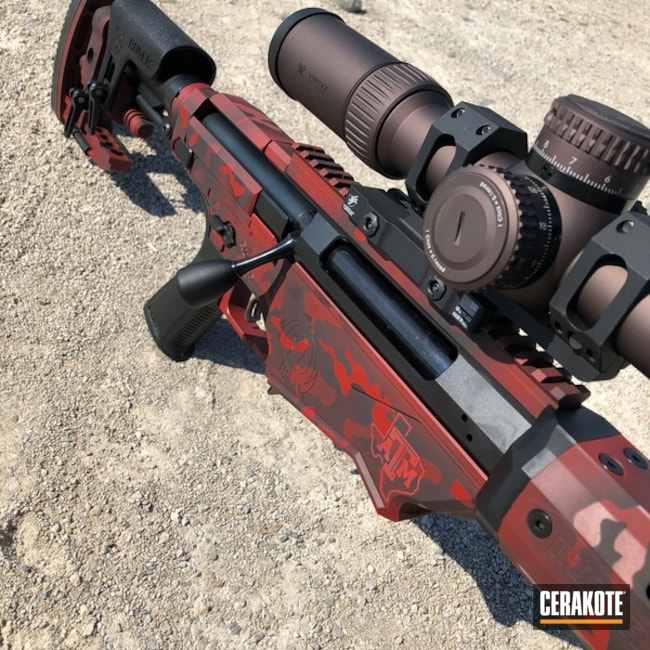 "Thumbnail image for project ""Ruger RPR with Cerakote H-146 Graphite Black and H-221 Crimson"""
