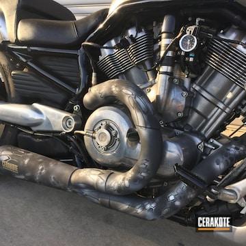 Cerakoted Cerakote Kryptek Harley Davidson Exhaust Finish