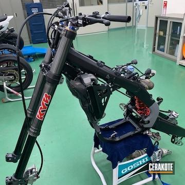 Cerakoted Honda Dirt Bike Parts Cerakoted In E-100 Blackout