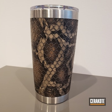 Cerakoted Custom Snake Skin Cerakote Finish