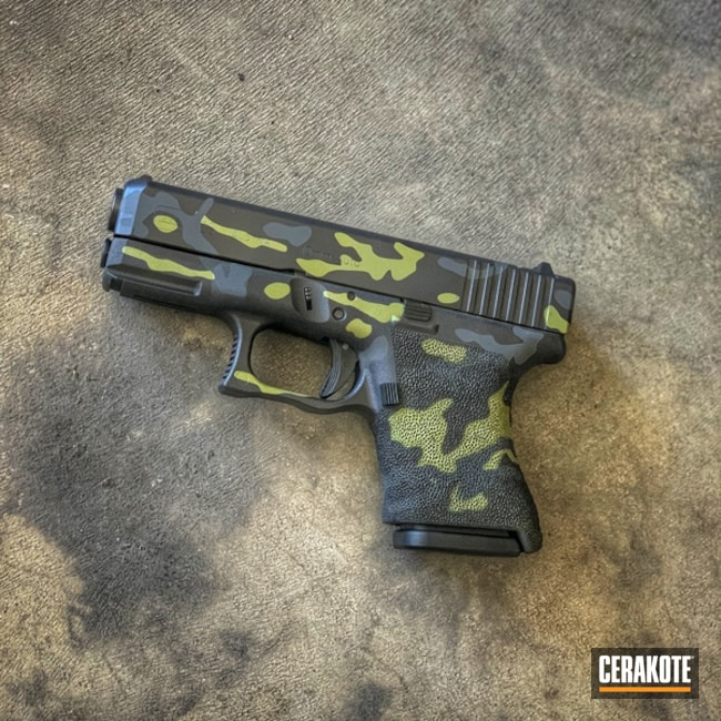 Cerakoted: SHOT,10mm,SPRINGFIELD® GREY H-304,Glock 29,MultiCam,BLACKOUT E-100,MOJITO H-313,Pistol,Glock,Gun Coatings