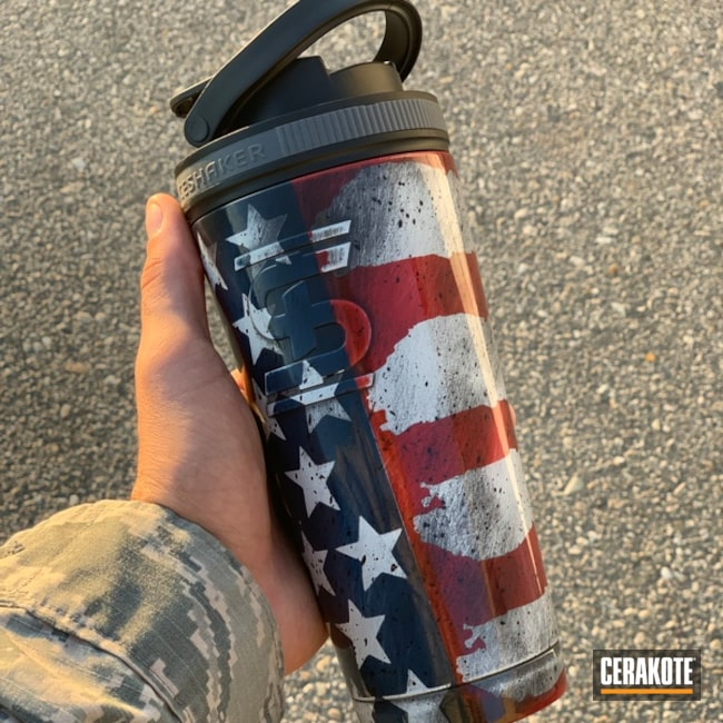 "Thumbnail image for project ""Tumbler with a Cerakote American Flag Finish"""