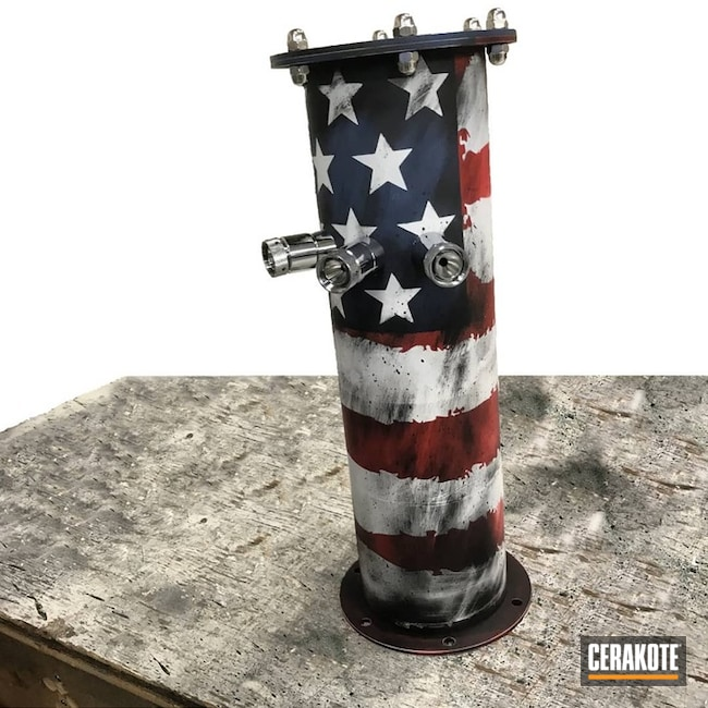 "Thumbnail image for project ""Beer Tower Pipe with an American Flag Finish"""
