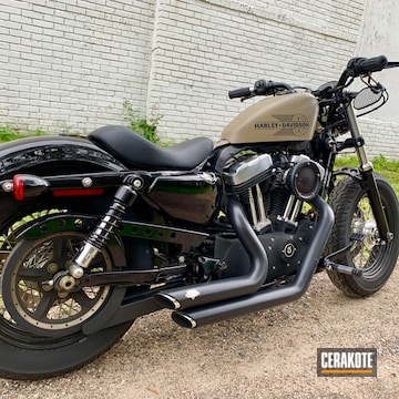 Cerakoted Harley Davidson Parts Cerakoted In C-102 And C-246
