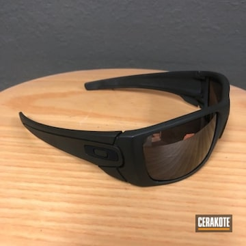 Cerakoted Oakley Sunglasses With Cerakote H-264 Mil Spec Green