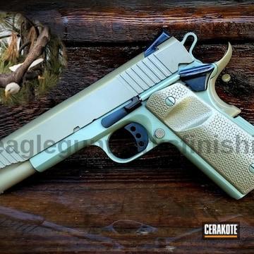 Cerakoted 1911 Handgun With A Cerakote E-140, E-100 And E-200 Finish