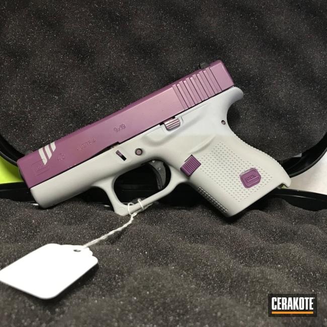 Cerakoted: SHOT,Two Tone,Wild Purple H-197,BATTLESHIP GREY H-213,Pistol,Glock,Gun Coatings,Glock 43