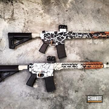 Cerakoted Aero Precision Ar-15 Rifle Set With A Custom Yin & Yang Themed Cerakote Finish