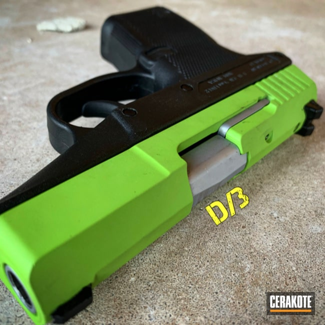 "Thumbnail image for project ""Kel-Tec Handgun Slide Cerakoted in H-168 Zombie Green"""