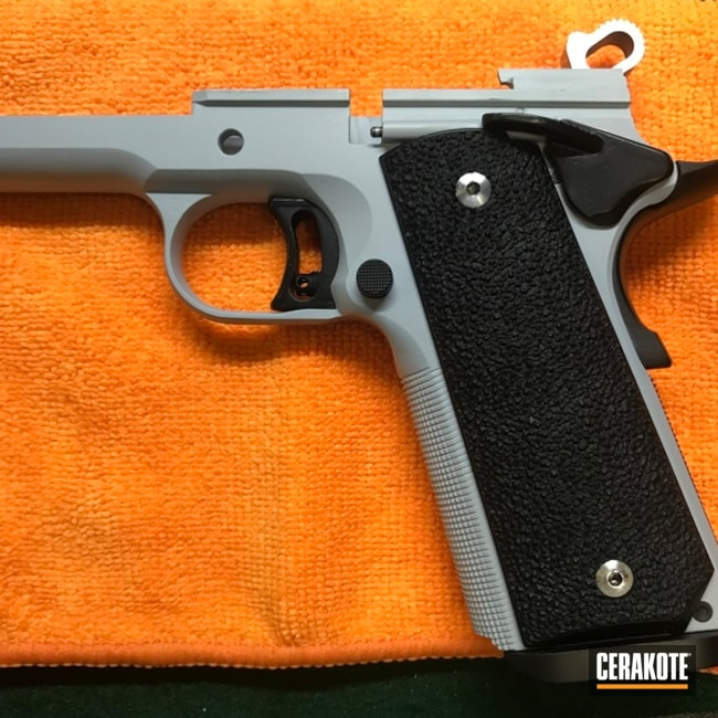 Cerakoted: SHOT,Retired Deputy Sheriff,Graphite Black H-146,Two Tone,Colt,Colt 1911,BATTLESHIP GREY H-213,Pistol,Gun Coatings,1911