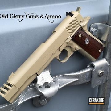 Cerakoted Colt 1911 And Compensator Cerakoted With H-247 Desert Sage