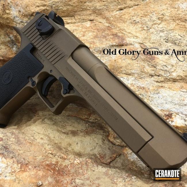 Cerakoted: S.H.O.T,Desert Eagle,Desert Eagle 44,Burnt Bronze H-148,Pistol,IWI,Gun Coatings,Magnum Research Inc,44mag