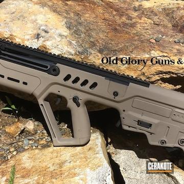 Cerakoted Refinished Iwi Tavor Rifle Using Cerakote H-267 Magpul Flat Dark Earth