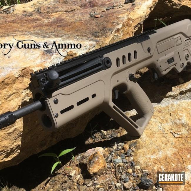 Cerakoted: S.H.O.T,Midwest Industries Handguard,MAGPUL® FLAT DARK EARTH H-267,IWI Tavor,Tactical Rifle,Refinished,IWI,Sar,Midwest Industry,Tavor,Gun Coatings,Tavor SAR