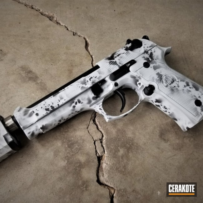 "Thumbnail image for project ""Beretta Handgun with a Cerakote Snow Camo Finish"""
