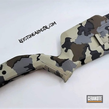 Cerakoted Rifle Stock Cerakoted In A Custom Multicam Finish