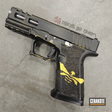 Cerakoted Polymer80 Handgun In Cerakote H-146 And H-144