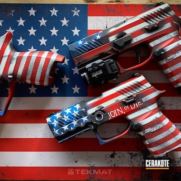 Cerakoted Sig Sauer Handguns In With A Cerakote American Flag Finish