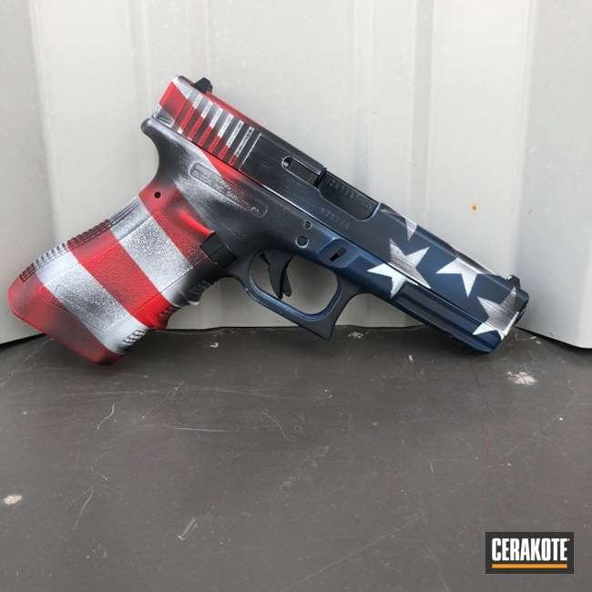 "Thumbnail image for project ""Glock 17 Handgun and American Flag Finish"""