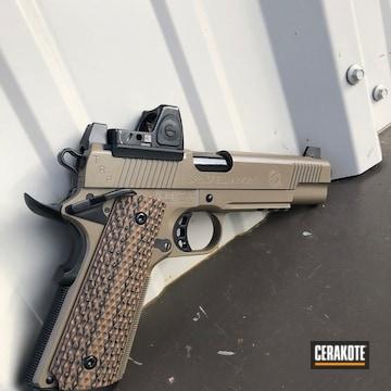 Cerakoted Two Toned Springfield 1911 Handgun
