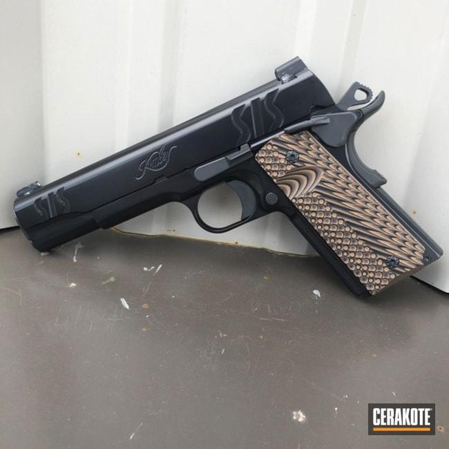 Cerakoted: S.H.O.T,Cerakote Elite Series,BLACKOUT E-100,Kimber 1911,Kimber,Pistol,Smoke E-120,Gun Coatings
