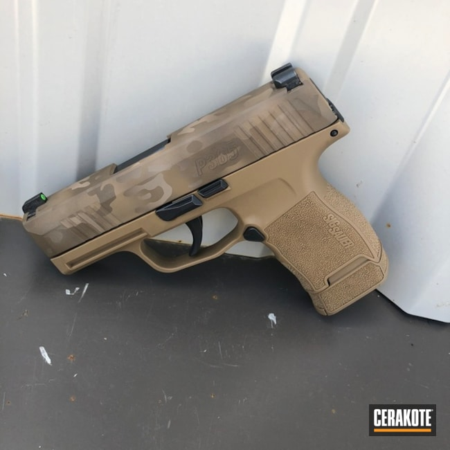 "Thumbnail image for project ""Sig Sauer P365 and Cerakote Desert MultiCam"""